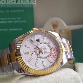 Rolex Sky Dweller Dual Tone White Dial Double Time Watch Price In Pakistan