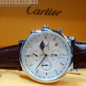 Cartier White Dial Chronograph MoonPhase His Watch Price In Pakistan