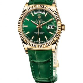 Rolex 36 Date Green Leather Belt Dial 118138 Watch Price In Pakistan