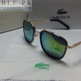 Lacoste Retro Squared Tint Golden Frame Sunglasses Price In Pakistan