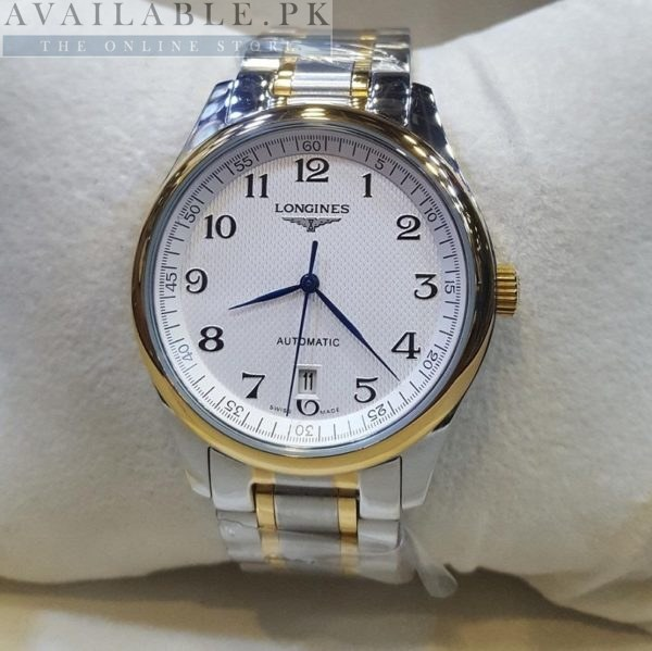 Longines Classic Automatic White Dial 2 Tone Men Watch Price In Pakistan