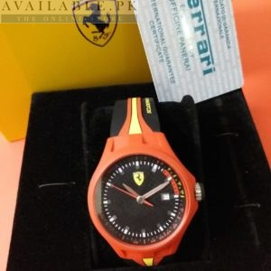 Ferrari Scuderia Orange Bezel Men Watch In Pakistan