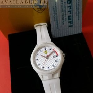Ferrari Scuderia White Date Display Men Watch Price In Pakistan