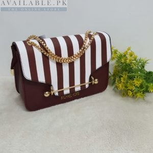 Michael Kors Stripped Brown And White Her Handbag