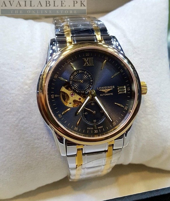 Longines Dual Clock Chronograph 2 Tone Men Watch Price In Pakistan