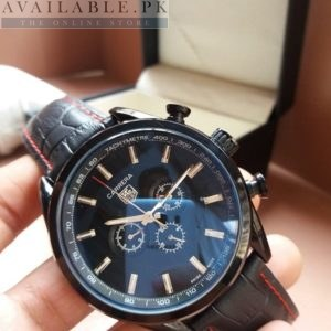 Tag Heuer Black Chronograph Tachymeter Men Watch Price In Pakistan