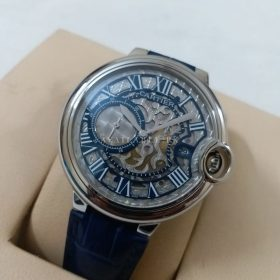 Cartier Quartz Side Second Blue Silver Men Watch Price In Pakistan