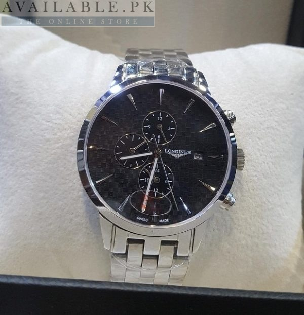 Longines Automatic Chronograph Black Dial His Watch Price In Pakistan