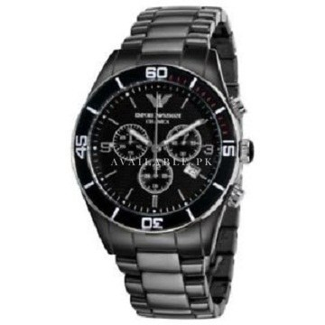 Men's Emporio Armani AR1421 Ceramic Chronograph Watch