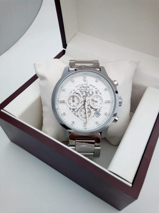 Mont Blanc White Dial Date Chronograph Automatic His Watch Price In Pakistan