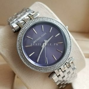 Michael Kors Darci With Stones Blue Dial Her Watch Price In Pakistan