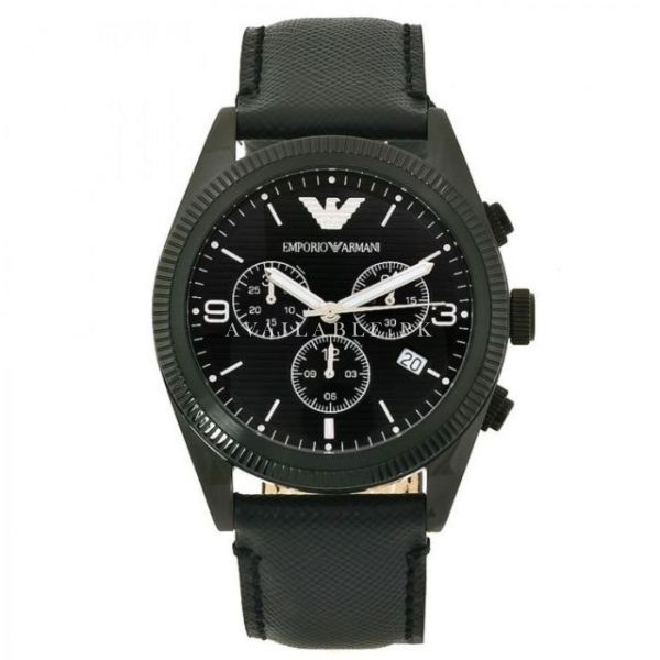 Emporio Armani AR5904 Men's Stainless leather watch strap