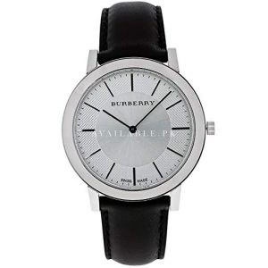 Burberry Men's Slim Black Leather watch BU2350