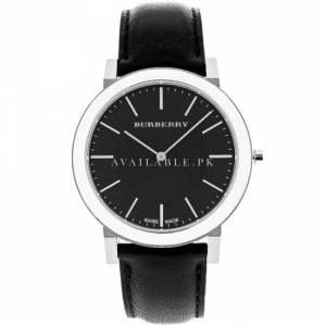 Burberry Men Slim Swiss Quartz Stainless Leather Casual BU2351