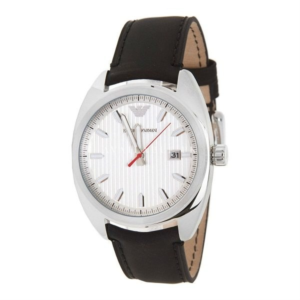 Emporio Armani Men's Quartz Watch AR5908 with Leather Strap