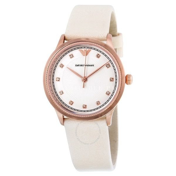 Emporio Armani Analog Casual Watch Beige Ladies AR1913