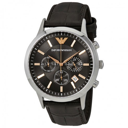 Emporio Armani Men's AR2513 Dress Brown Leather Watch