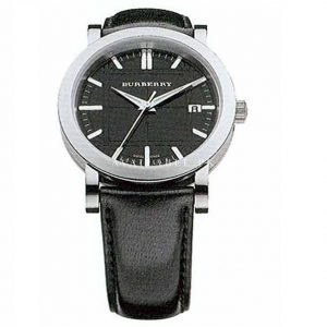 Burberry Men Swiss Quartz Stainless Steel and Leather BU1354