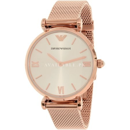 Emporio Armani Women's AR1956 Retro Rose Gold Watch