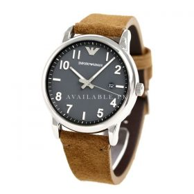Emporio Armani Men's Quartz Watch with Leather Strap AR11070