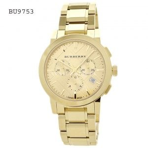 BURBERRY Watch Yellow Gold-Tone Stainless Ladies Watch