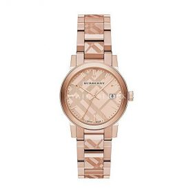 Burberry BU9235 26mm Gold Plated Stainless Steel Case Rose Gold