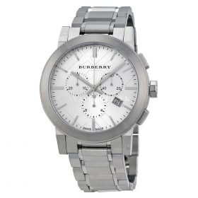 Burberry Ladies Swiss Quartz Stainless Steel Casual Watch Silver BU9350