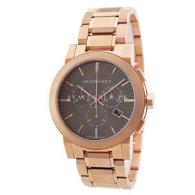 Burberry Taupe Chronograph Gold Plated Steel Mens Watch BU9353