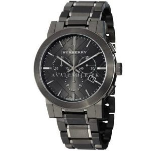 Burberry Men's BU9354 Large Check Gray Ion Plated Watch