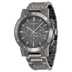 Burberry Gunmetal Dial Grey Stainless Steel Mens Watch BU9381