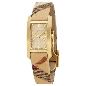 Burberry Pioneer Gold Dial Gold Ion-plated Ladies Watch BU9509