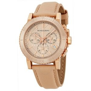 Burberry Chronograph Rose Dial Rose gold-tone Unisex Watch BU9704