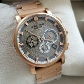 Cartier Matt Rose Gold Chronograph Men Watch AAA Replica Price In Pakistan