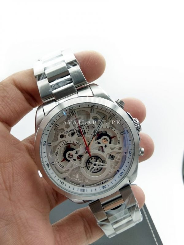 Tag Heuer Le Decima CR7 Silver Men Watch AAA Replica Price In Pakistan