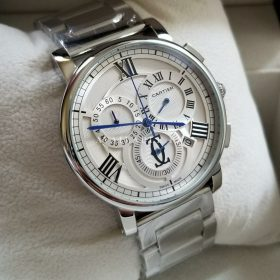 Cartier White Dial Blue Hands Stainless Men's Watch Price In Pakistan