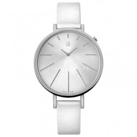 Calvin Klein ck Equal White Leather Ladies Watch K3E231L6