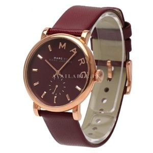Marc Jacobs Women's Red Pig Skin Leather Band Watch MBM1267