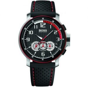 Hugo Boss Men's Watch Chronographe Black red Dial1512368