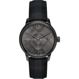 Burberry Men's BU10010 Check Stamped Round Dial Watch