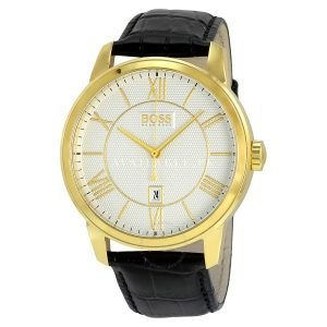 Hugo Boss 1512972 Men's Silver Dial Gold Plated Steel Watch