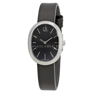 Calvin Klein Ladies Wrist Watch Analog Leather Mineral Glass K3P231C1