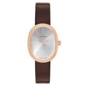 Calvin Klein Women's Quartz Watch Leather Rose Gold K3P236G6
