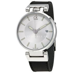 Calvin Klein Wordly Men's Quartz Watch Black leather strap K4A211C6