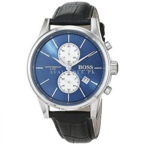 Hugo Boss Men's Jet 1513283 Silver Leather Quartz Watch