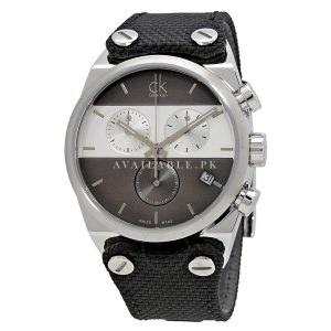 Calvin Klein Men's Quartz Watch black canvas strap K4B381B3