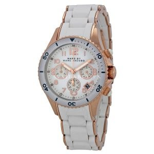 Marc by Marc Jacobs MBM2547 Ladies White Rock Chronograph Watch