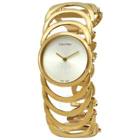 Calvin Klein Women's Watch Stainless Steel Yellow Gold K4G23526