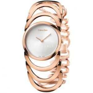 Calvin Klein Women's Quartz Watch Steel Rose Gold K4G23626