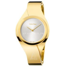 Calvin Klein Senses Women's Watch Stainless Steel Yellow K5n2m526