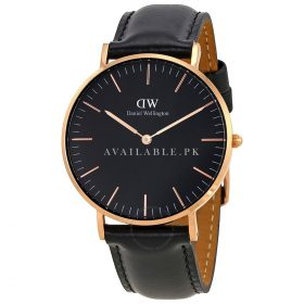 Daniel Wellington Leather Wellington Classic Black 00100139